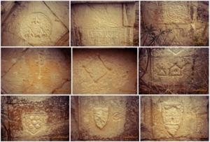 Decoració dels muntants del quart arc de la porta de l'Evangeli de Santa Margarida de Privà. Vilanova de la Sal. La Noguera. Montsec d'Ares..