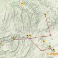 Mapa Ruta pels Aspres del Montsec (III). Ruta que permet una percepció de les panoràmiques i contrastos visuals del paisatge els Aspres del Montsec (o Aspres de La Noguera): Per la ribera del Segre, des de Montsonís a Alòs de Balaguer...