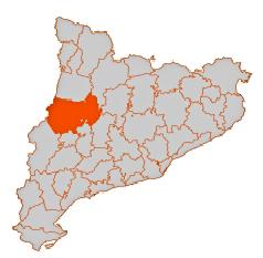 Mapa de la situació de la comarca de la Noguera a Catalunya