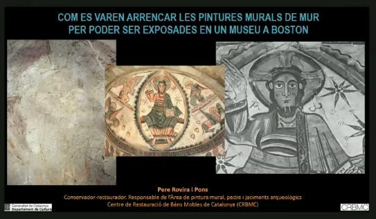Conferencia 'Com es varen arrencar les pintures murals de Mur per poder ser exposades en un Museu a Boston'