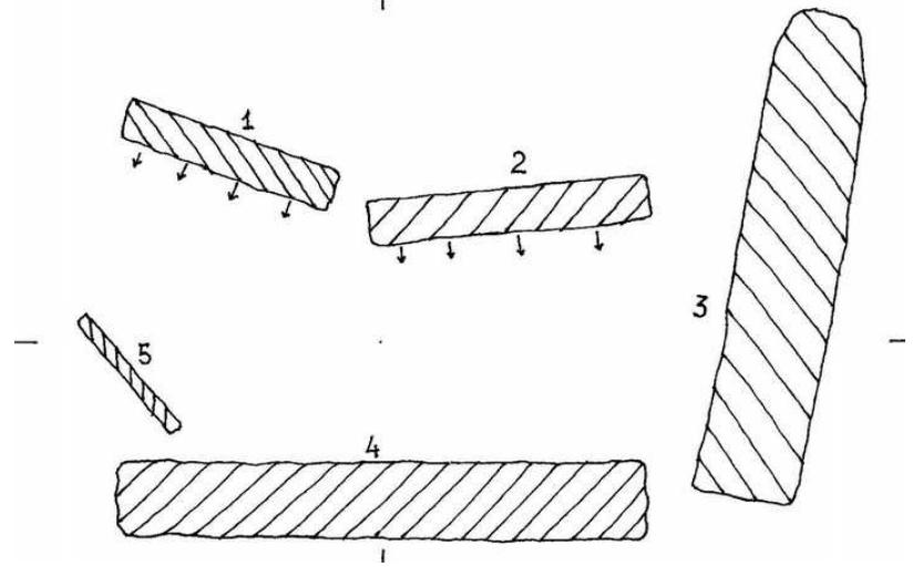 Esquema del dolmen de l'Estall Sud o dolmen de Les Salteres II. L'Estall, Viacamp i Lliterà, Ribagorça. Osca, Aragó. Montsec d'Estall.