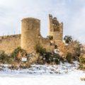 Castell de Sant Gervàs a Sant Miquel de la Vall. Pallars Jussà. Lleida, Catalunya. Montsec de Rúbies.