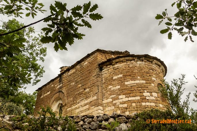 Ermita romànica de la Mare de Déu de la Fabregada. Sant Esteve de la Sarga. Pallars Jussà, Lleida, Catalunya. Montsec d'Ares.