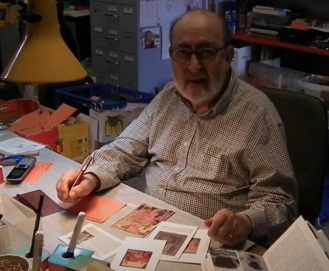 Josep Maria Gavin explicant la redescoberta de Santa Cecília de Torreblanca.