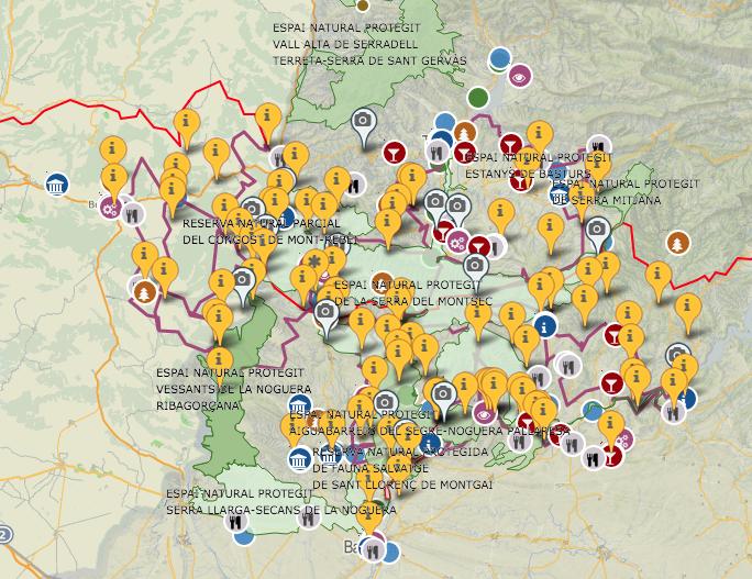 Mapa de la SerradelMontsec.cat