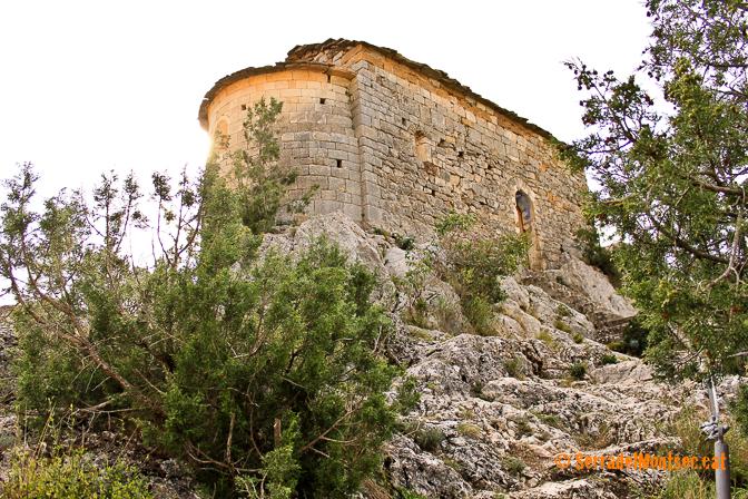 Ermita de la Mare de Déu de la Pertusa. Corçà, Àger. La Noguera, Lleida. Catalunya. Serra del Montsec.