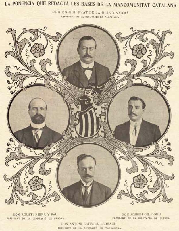 Ponència que redactà les bases de la Mancomunitat de Catalunya. Portada de la revista 'Ilustració Catalana', núm 437, Barcelona, Octubre de 1911.