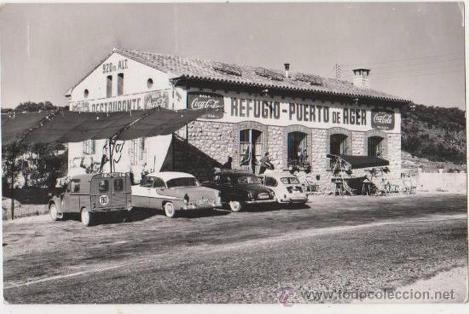 Fotografia antiga del Port d'Àger. Data i autor desconegut. Àger, La Noguera. Lleida, Catalunya. Montsec d'Ares.