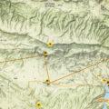 Ruta Panoràmica per la Vall d'Àger. Àger i Camarasa. La Noguera, Lleida. Catalunya. Montsec d'Ares.