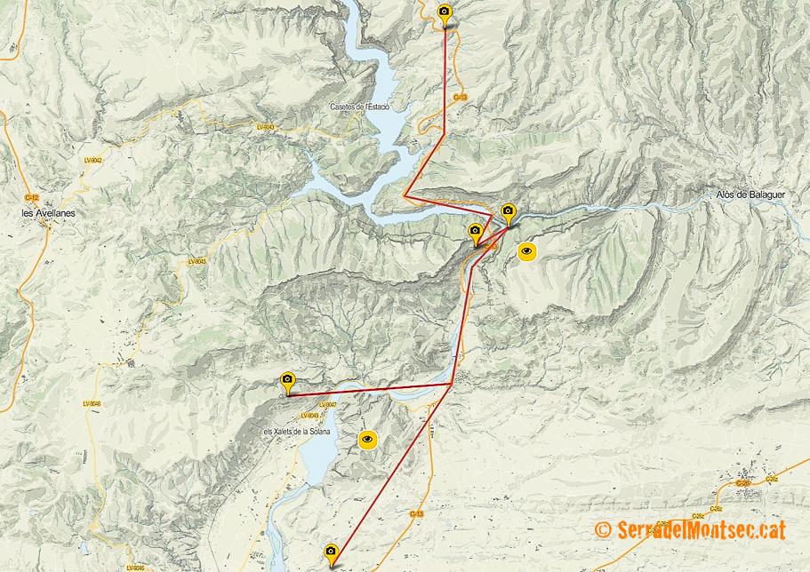 Ruta Panoràmica pels Aspres del Montsec (o Aspres de La Noguera) des de Sant Llorenç de Montgai fins a Fontllonga.
